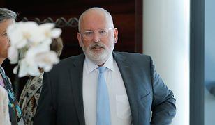 Wiceprzewodniczący KE Frans Timmermans nie będzie mógł zadawać pytań