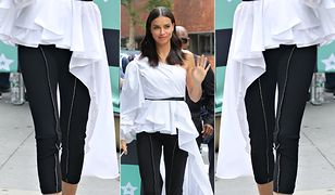LOOK OF THE DAY: Adriana Lima i Jej Wysokość Asymetria