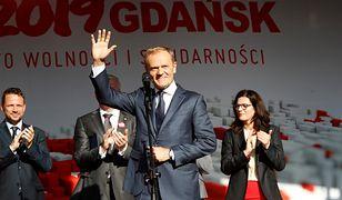Donald Tusk w Gdańsku podczas obchodów rocznicy 4 czerwca 1989 roku.