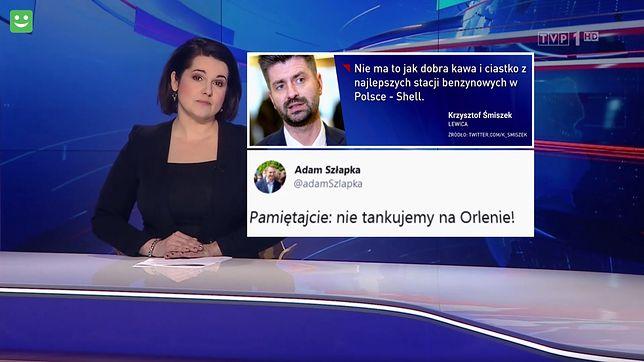 """""""Wiadomości"""" połączyły atak na stację Orlenu ze słowami posłów opozycji"""
