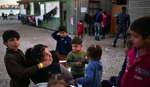 Uchodźcy z Syrii na greckiej wyspie Chios