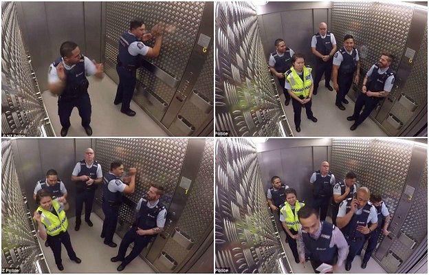 Tak się bawi policja. To wideo podbiło internet