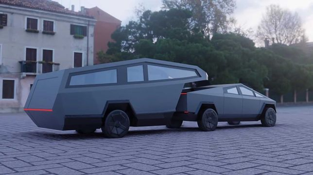 Jedna z koncepcji Tesla Cybertruck