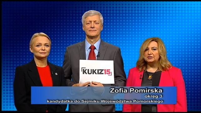 Audycje komitetów wyborczych to kopalnia zaskakujących wystąpień. Na zdjęciu kandydaci Kukiz '15 do sejmiku województwa pomorskiego.
