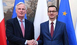 Premier Mateusz Morawiecki rozmawiał na temat brexitu  z unijnym negocjatorem Michelem Barnierem