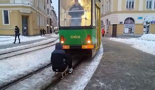 Policja ustaliła tożsamość mężczyzny, który zorganizował sobie kulig za tramwajem