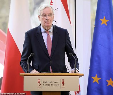 Michel Barnier w Kolegium Europejskim w Natolinie