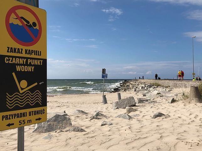 Czarne punkty nad Bałtykiem. Nie wchodź do wody, gdy widzisz te znaki