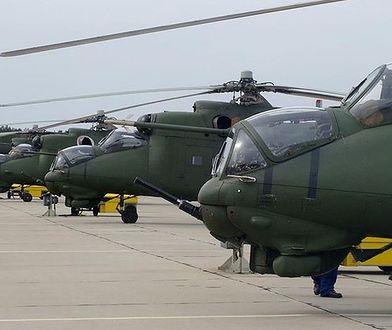 Śmigłowce Mi-24W.