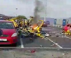 Przerażające obrazki w Sosnowcu. Wybuch rozerwał samochód na strzępy