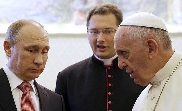 50 minut prywatnej rozmowy papieża Franciszka z Władimirem Putinem