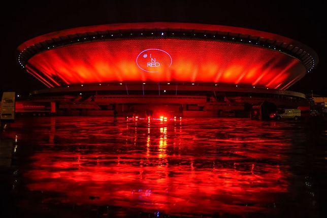 Spodek we wrześniu został podświetlony na czerwono w ramach globalnej akcji solidarnościowej branży związanej z organizacją i pracą przy wydarzeniach kulturalnych