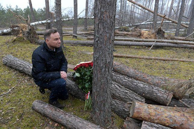 Prezydent złożył kwiaty na miejscu tragedii w Suszku