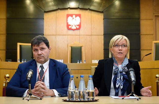 Julia Przyłębska, prezes Trybunału Konstytucyjnego i Mariusz Muszyński, jej zastępca.