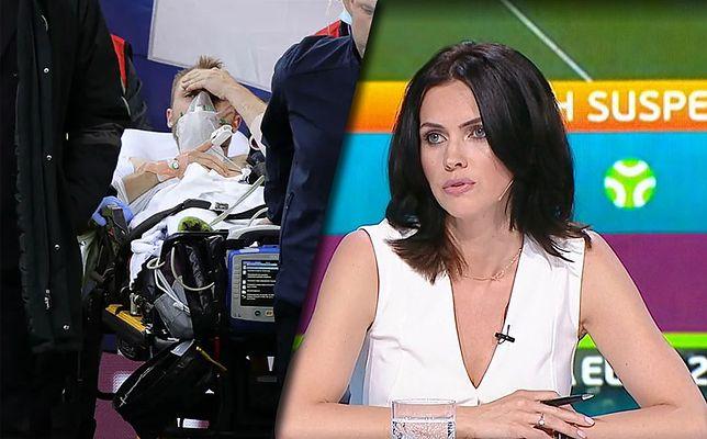Akcję reanimacyjną Christiana Eriksena na żywo w studiu komentowała m.in. Sylwia Dekiert