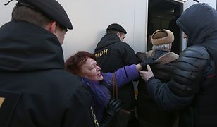 Zatrzymania dziennikarzy na Białorusi. Relacjonowali nielegalny marsz