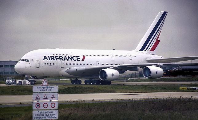 Samolot należący do linii Air France