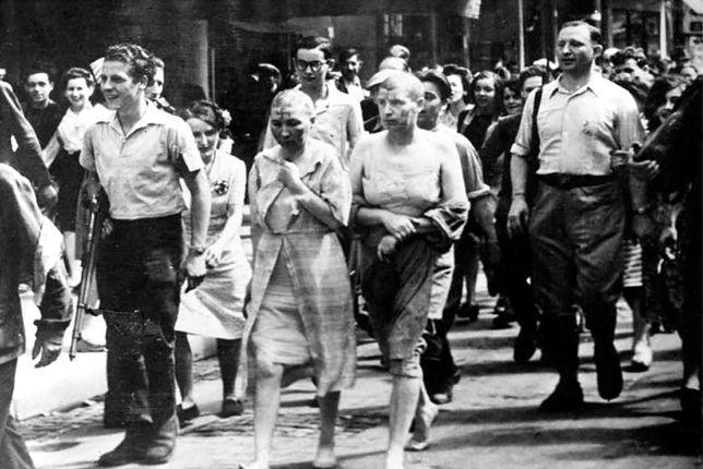 Francuzki oskarżone o kolaborację z Niemcami, 1944 r.