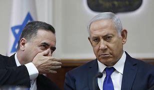 Minister Israel Katz i premier Izraela Benjamin Netanjahu. To ich wypowiedzi o antysemityzmie Polaków wywołały polsko-izraelski  konflikt dyplomatyczny.