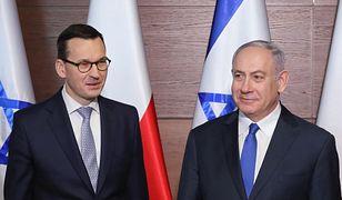 Mateusz Morawiecki i Benjamin Netanjahu. Po kryzysie na linii Polska-Izrael, polski premier odwołał wylot na szczyt V4 do Jerozolimy