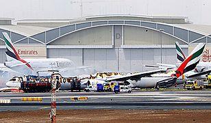 Wypadek na lotnisku w Dubaju