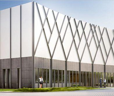 Wizualizacja budynku nowej biblioteki i obserwatorium Uniwersytetu w Białymstoku