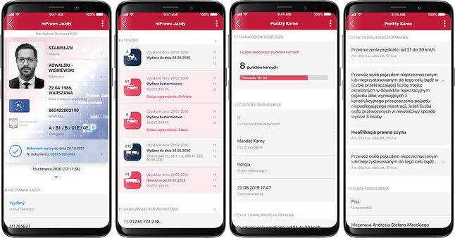 W aplikacji mObywatel będzie można sprawdzić nie tylko uprawnienia, ale i Punkty Karne, źródło: Ministerstwo Cyfryzacji.