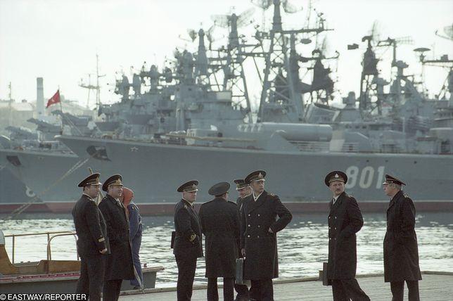 Rosyjscy oficerowie na Krymie