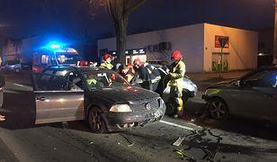 Wielkopolska. Luboń. Groźny wypadek z udziałem trzech pojazdów.