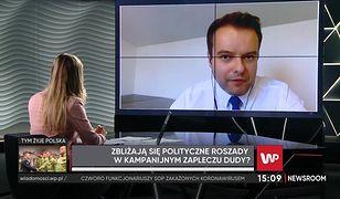 Wybory prezydenckie 2020. Przepychanka w studio. Rafał Bochenek był pytany o Przemysława Czarnka