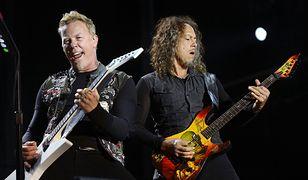James Hatfield i Kirk Hammett na koncercie w Melbourne w 2013 roku