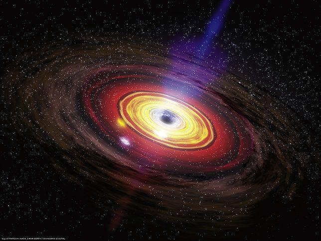Supermasywna czarna dziura może doprowadzić do zniszczenia galaktyki