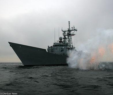 Polski okręt bierze udział w ważnych manewrach