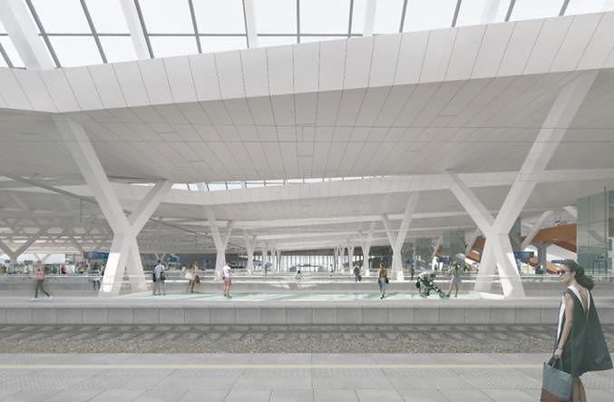 Warszawa Zachodnia. Warto pomęczyć się chwilę na drodze, bo potem będziemy mieć imponujący nowy dworzec