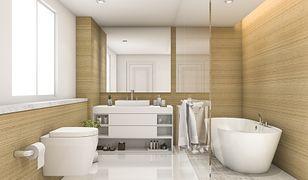 W ciasnej łazience łatwiej o kurz