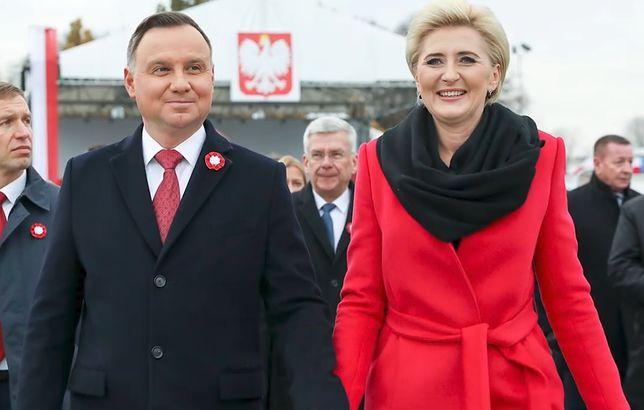 Walentynki 2020. Andrzej Duda i Agata Kornhauser-Duda.