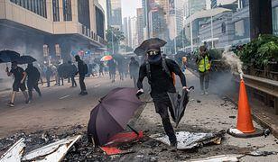 Protesty w Hongkongu organizowane są od połowy czerwca. Manifestanci na ulicach Hongkongu 29 września br.