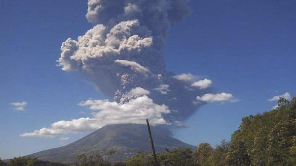Wybuch wulkanu Chaparrastique