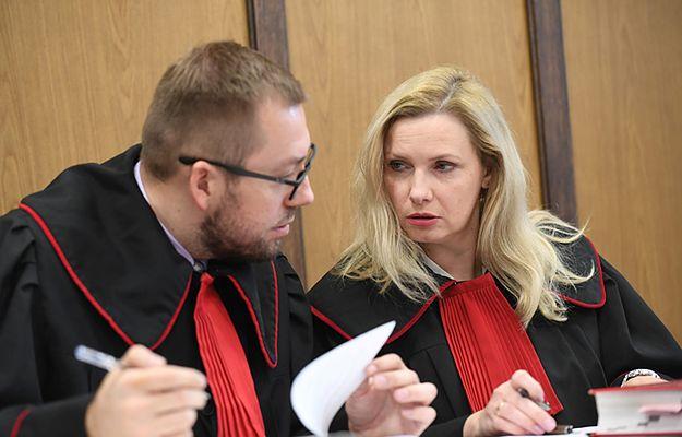 Prokuratorzy Adam Borkowski i Anna Hopfer podczas rozprawy w procesie o podsłuchy w stołecznych restauracjach