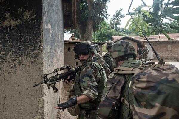 Francuscy żołnierze w Bangi