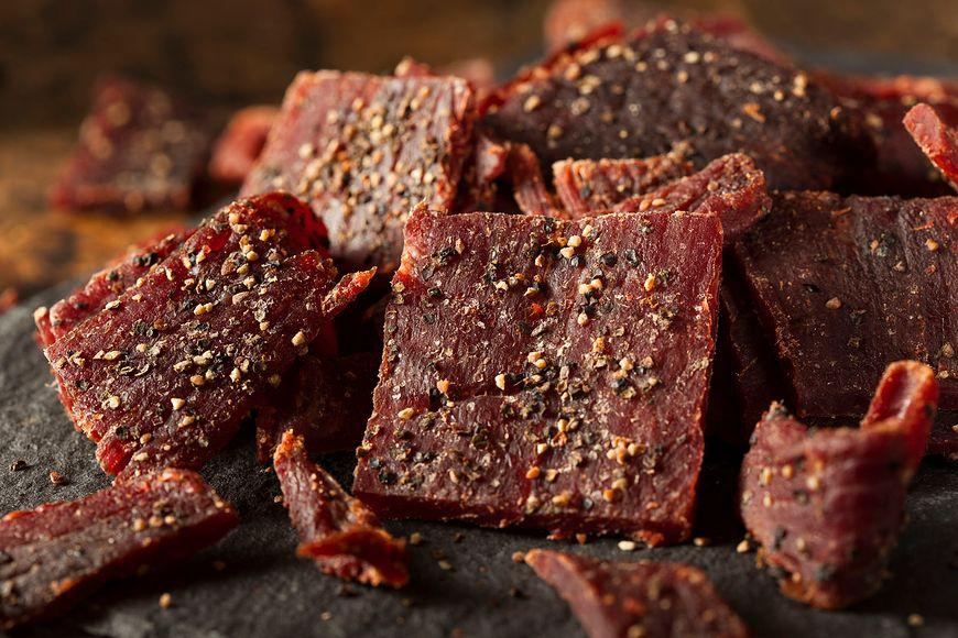 Plasterki suszonej wołowiny z przyprawami