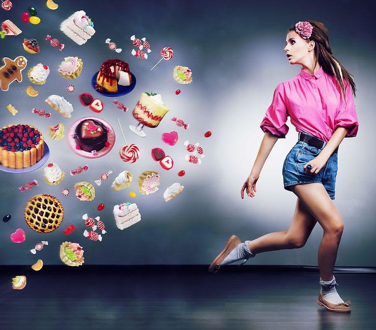 ucieczka przed słodyczami