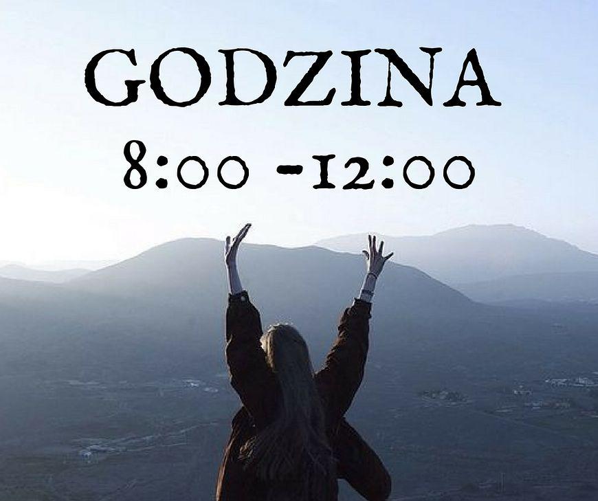 Godzina 8:00 - 12:00, a charakter