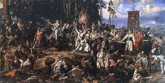 """Obraz Jana Matejki z 1888 r. """"Kościuszko pod Racławicami"""""""