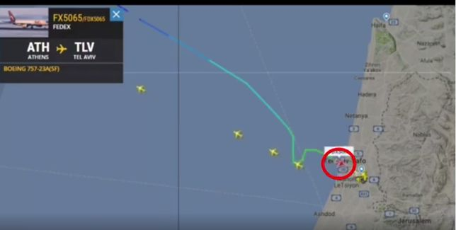 Samolot ONZ zmienił kurs w pobliżu lotniska Ben Guriona