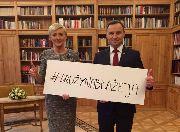 Andrzej i Agata Duda z pomocą dla Błażeja Cymermana