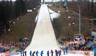 Widok na skocznię narciarską im. Adama Małysza w Wiśle Malince