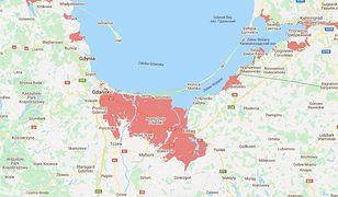 Interaktywna mapa terenów zagrożonych powodziami