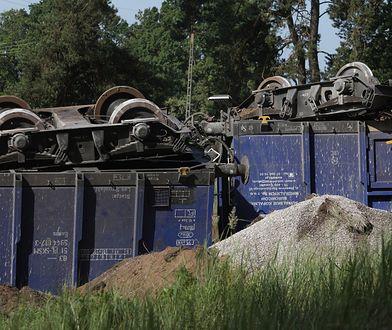 Wykolejone wagony między Augustowem a Suwałkami