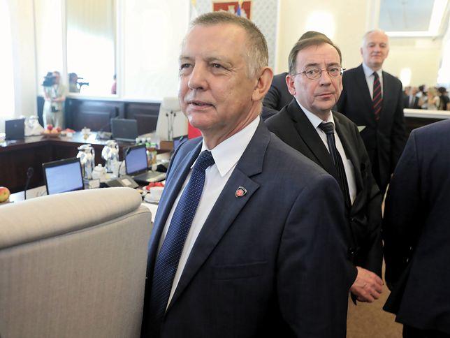 Prezes NIK Marian Banaś i minister Mariusz Kamiński